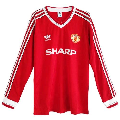 Maillot Manchester United 1ª ML Retro 1986 Rouge